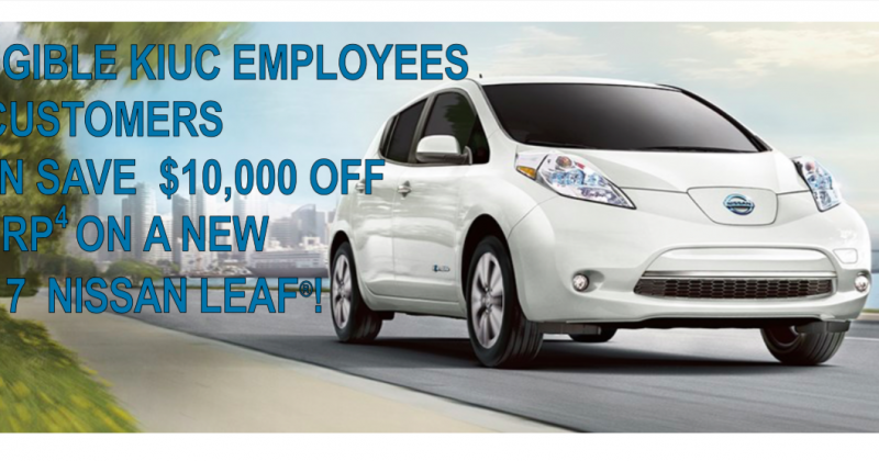 Nissan Leaf $10,000 rebate extended!